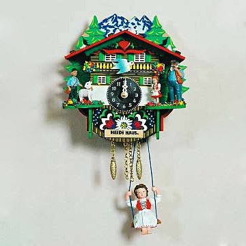 cuckoo clock heidi haus girl w swing 9 h