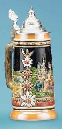 Neuschwanstein Beer Stein 8 3 4h