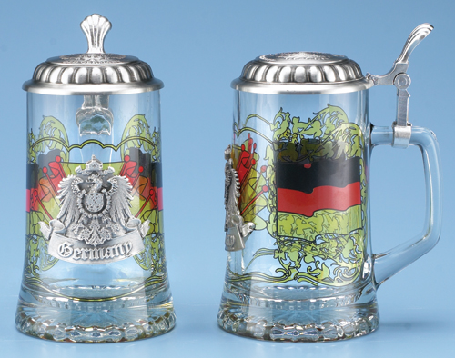 Glass Beer Stein Souvenir Of Germany
