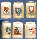 Assorted Germany Brewery Label Mugs, 5-3/4 H