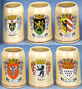Assorted German City Crest Mugs, 5-3/4 H