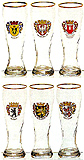 Famous German City Glass Set, 9 H