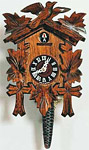 Carved Barvarian Cuckoo Clock with Cuckoo Bird, 13 H