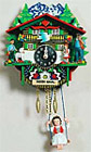 Cuckoo Clock Heidi Haus, Girl w/ Swing, 9 H