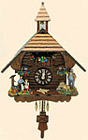 Cuckoo Clock Heidi Haus with Dancing People, 13 H