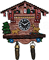 Cuckoo Clock with Dogs Fridge Magnet