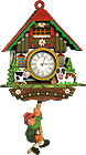 Boy/Cow and Dog Cuckoo Clock Fridge Magnet