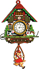 Girl/Dog and Cow Cuckoo Clock Fridge Magnet