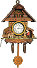 Dog and Man Cuckoo Clock Fridge Magnet