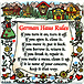 German Haus Rules Magnet, 4 x4  Ceramic Tile