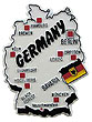Germany Country Map - Refrigerator Magnet