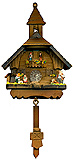 Cuckoo Clock Magnet, Schoolhouse with Swing