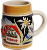 Miniature Beer Stein - Alpine Village