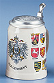 Old German Beer Stein, 6-1/2H