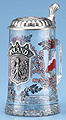 Glass Beer Stein - Souvenir of Poland, 7-1/4 H