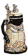 Neuschwanstein in Winter Commemorative Beer Stein, 10-1/2 H