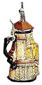 Rothenburg Clock Tower Commemorative Beer Stein, 12-3/4 H