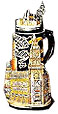 Munich City Hall Commemorative Beer Stein, 11-1/2 H