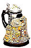 The Rheinland 'Cologne-Koblenz-Ruedesheim' Commemorative Beer Stein, 9-1/2H