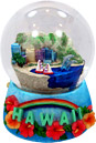 Hawaiian Souvenir - Musical Snow Globe of Waikiki Beach, 5.5 H