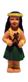 Hawaiian Hula Dancer Girl with Puili - Fridge Magnet