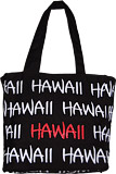 Hawaii Souvenir Canvas Tote Bag - Black, 9H
