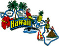 Hawaii State - Refrigerator Magnet