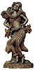 Hapa Wood Ancient Tikis - Hula Girl Dancing Tiki, 11H