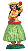Hula Girl Doll with Flower