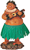 Hawaiian Brother Ed Dashboard Hula Doll, 7H