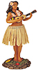 Hawaiian Sweet Leilani Dashboard Hula Doll, 7H