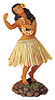 Hawaiian Sweet Leilani Dashboard Hula Doll, 7 H