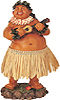 Hawaiian Brother Ed Dashboard Hula Doll, 7 H