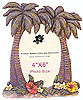 Palm Tree With Flowers Photo Frame