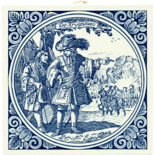 Krygsman Warrior Dutch Delft Tile 6 Quot