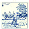6 Dutch Tile - Summer Scene