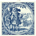Krygsman / Warrior, Dutch Delft Tile 6