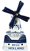 3 H Holland Windmill Delft Blue, Fridge Magnet