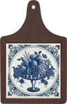 Cheeseboard w/ Delft-Blue Tile - Fruit Platter with Fancy Border