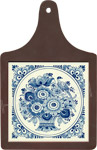 Cheeseboard w/ Delft-Blue Tile - Flower with Bird