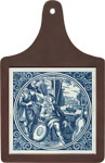 Cheeseboard w/ Delft-Blue Tile - Instrument Maker