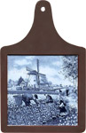 Cheeseboard w/ Delft-Blue Tile - Tulip Pickers