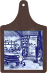 Cheeseboard w/ Delft-Blue Tile - Cheesemaker