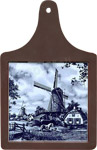 Cheeseboard w/ Delft-Blue Tile - Windmill with Ponies