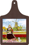 Cheeseboard w/ Color Tile - Tulip Girl