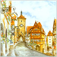 Dutch Tile, Color, Rothenburg ob der Tauber, 6