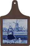 Cheeseboard w/ Delft-Blue Tile - Tulip Girl