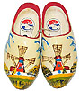 Decorated Dutch Wooden Clogs, Adult's Size 7