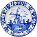 2.25  Deluxe Delft Windmill Plate Small, Refrigerator Magnet