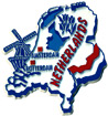 Netherlands Souvenir Country Map Magnet